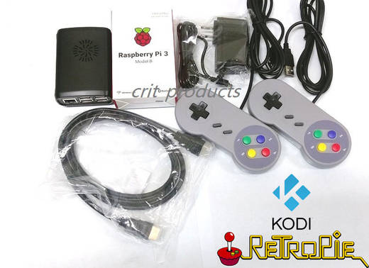 Raspberry Pi 3 Model B RetroPie Game Console Kit K posted by
